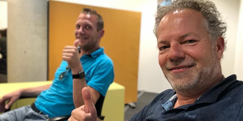 Vlnr: Tom van Summeren en Menno Dekker